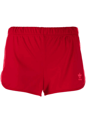 Adidas contrast stripe shorts - Red