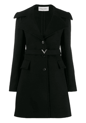 Valentino compact V belt coat - Black