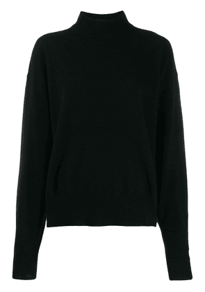 Circus Hotel cut out back sweater - Black