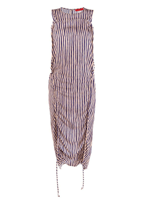 Eckhaus Latta gathered striped dress - Neutrals