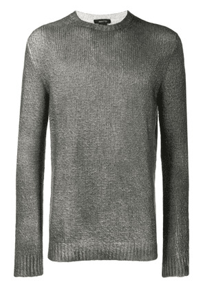 Avant Toi crew-neck knitted sweater - Grey