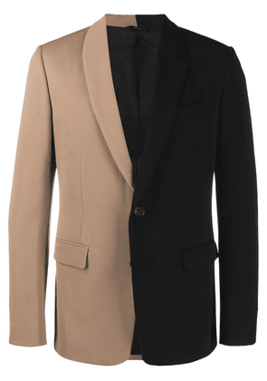 Fendi two-tone slim-fit jacket - Black