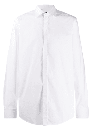 Dolce & Gabbana long-sleeved dotted shirt - White