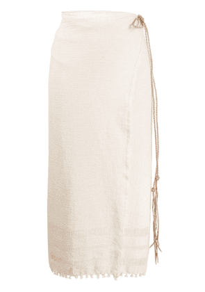 Caravana rope detail cover-up - White