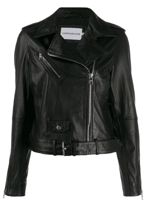 Calvin Klein Jeans zipped biker jacket - Black