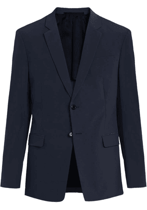 Prada technical fabric single-breasted suit - Blue