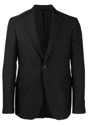 Fendi jacquard slim-fit jacket - Black