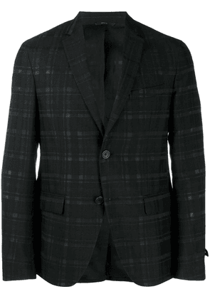 Fendi chequerboard deconstructed jacket - Black