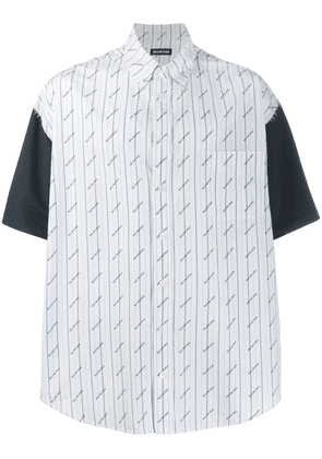 Balenciaga patched effect short-sleeved shirt - White