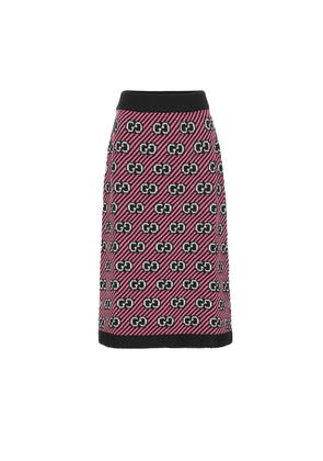 GG jacquard wool skirt