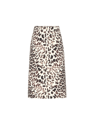 Virgin wool gabardine midi skirt