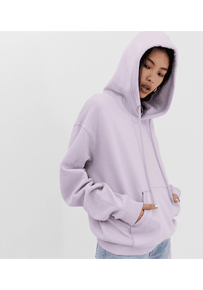 Weekday oversized hoodie in lilac