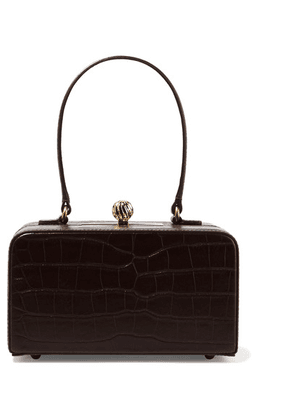 Mehry Mu - Fey In The '50s Croc-effect Leather Tote - Dark brown