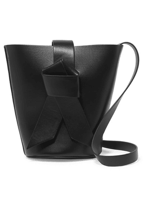 Acne Studios - Musubi Bucket Mini Knotted Leather Bucket Bag - Black