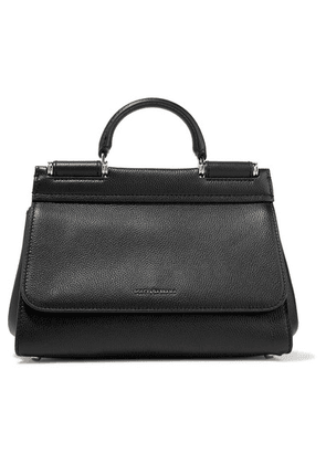 Dolce & Gabbana - Sicily Small Textured-leather Tote - Black