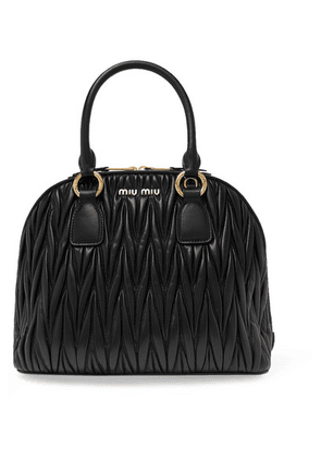 Miu Miu - Medium Matelassé Leather Tote - Black