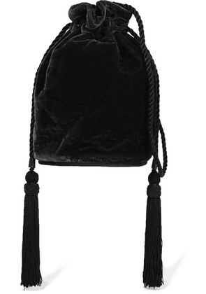 Hunting Season - Tula Velvet Shoulder Bag - Black