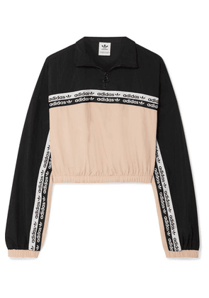 adidas Originals - Cropped Striped Shell Track Jacket - Blush
