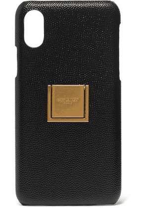 SAINT LAURENT - Embellished Textured-leather Iphone X And Xs Case - Black
