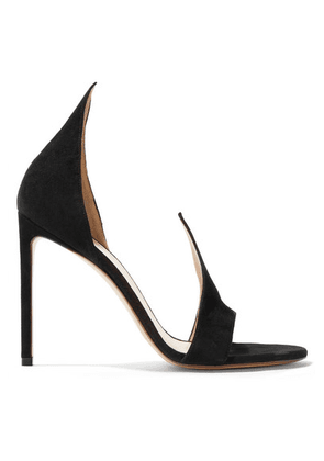 Francesco Russo - Suede Sandals - Black