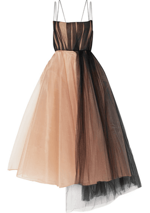Alex Perry - Lovell Organza And Tulle Midi Dress - Beige