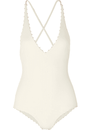 Marysia - Torrey Knotted Stretch-crepe Swimsuit - White