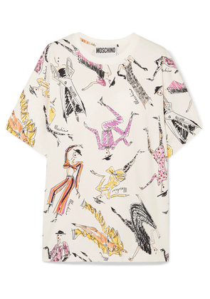 Moschino - Oversized Printed Cotton-jersey T-shirt - White