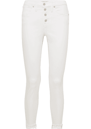 Madewell - Frayed High-rise Skinny Jeans - White