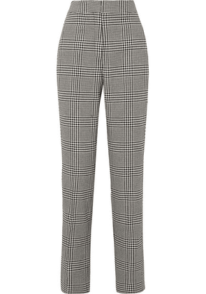 Erdem - Emanuelle Prince Of Wales Checked Silk-blend Straight-leg Pants - Black