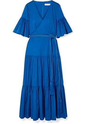 Borgo De Nor - Teodora Cotton-blend Poplin Maxi Dress - Blue