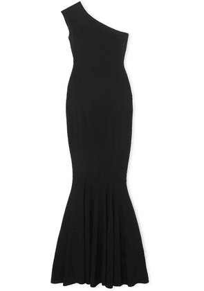 Norma Kamali - One-shoulder Stretch-jersey Gown - Black