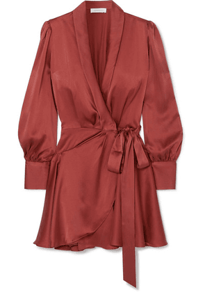 Zimmermann - Silk Wrap Mini Dress - Red