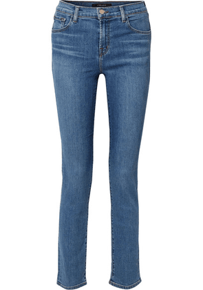 J Brand - Ruby High-rise Slim-leg Jeans - Mid denim