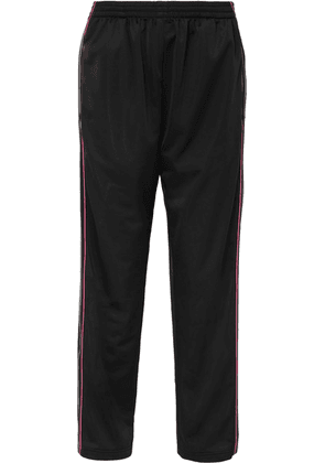 Balenciaga - Striped Satin-jersey Track Pants - Black