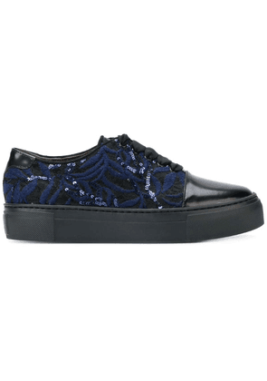 Agl embroidered sequin sneakers - Black