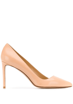 Francesco Russo pointed stiletto pumps - Neutrals