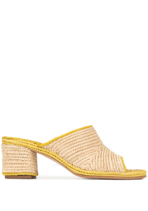 Carrie Forbes Rama mules - Neutrals