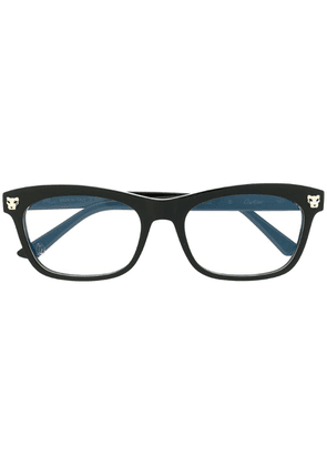 Cartier panther head detail glasses - Black