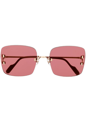 Cartier C Décor sunglasses - Red