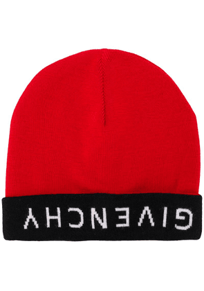Givenchy reverse logo beanie - Red