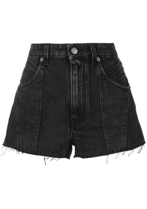 Givenchy raw edge denim shorts - Black