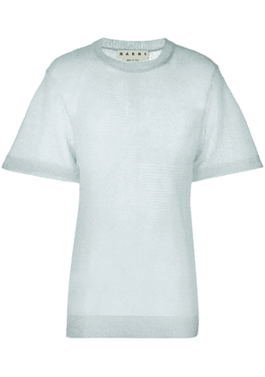 Marni sheer shortsleeved sweater - Grey