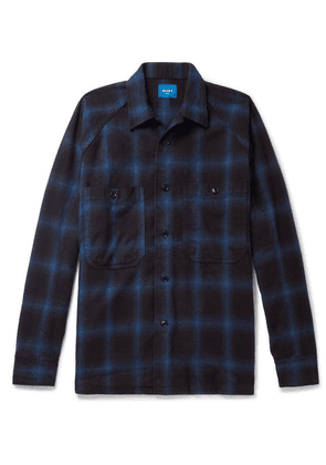 Beams - Checked Cotton-flannel Shirt - Blue