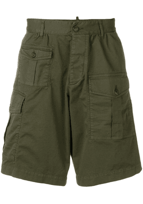 Dsquared2 deconstructed cargo shorts - Green
