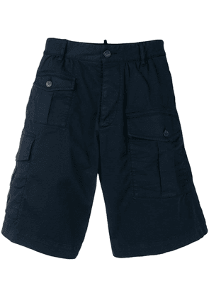 Dsquared2 multi-pocket cargo shorts - Blue