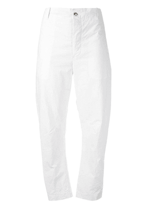 Forme D'expression straight ankle striped trousers - White