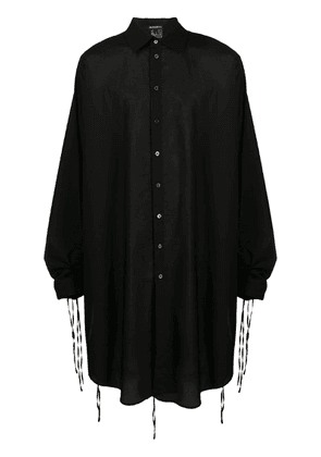 Ann Demeulemeester oversized draped shirt - Black