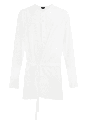 Ann Demeulemeester band collar shirt - White