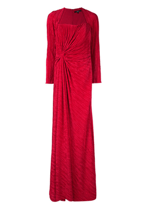 Badgley Mischka pleated drape gown - Red