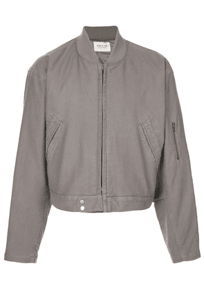 Fear Of God cropped bomber jacket - Grey